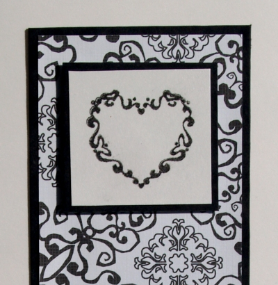 Potd_ 2. Feb 09_Bespoke Bride cards_Monochrome CU_Julie