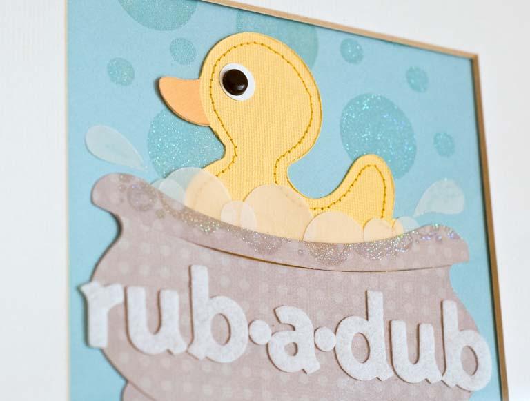 Rub-a-dub-duck close-up