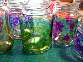 9TEALIGHTS JARS STAMPED