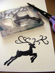 3 STAMP DEER CUT OUT